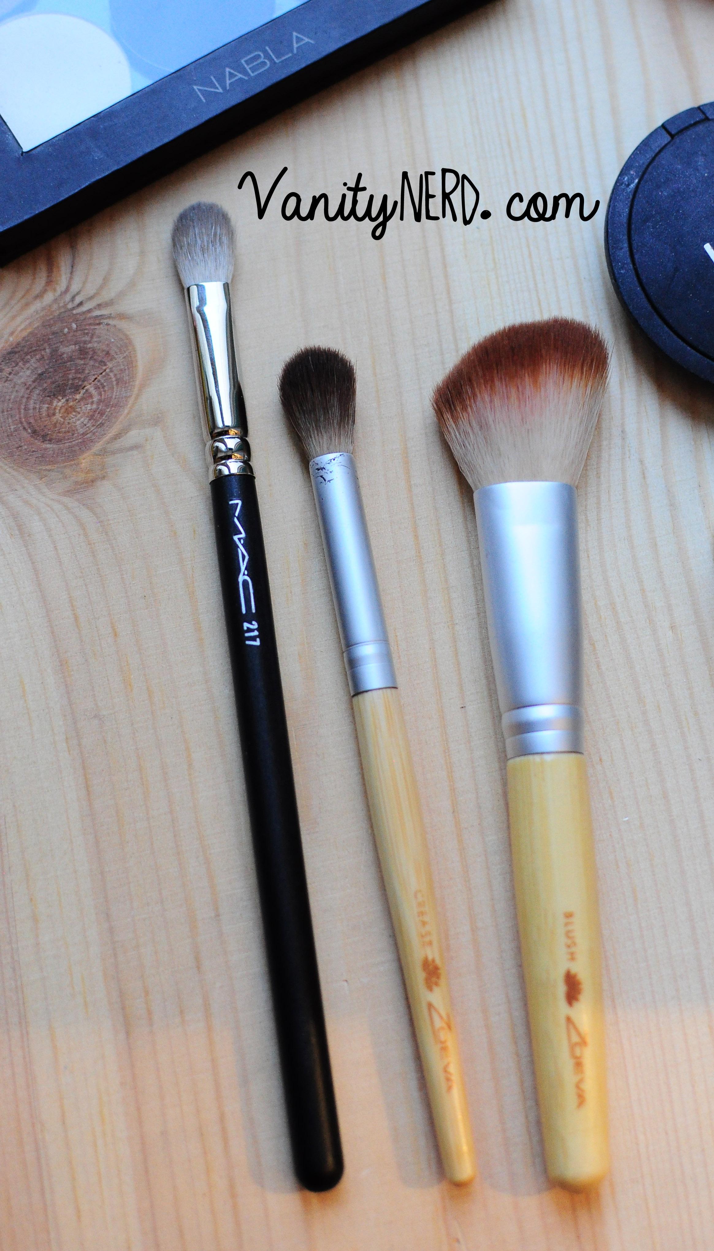 Pennelli sporchi (ora li ho lavati). 217 di Mac e i due del Bamboo Set Mini